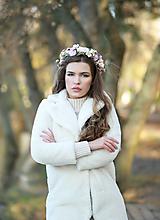 Ozdoby do vlasov - Romantický ružový kvetinový venček - 12672409_