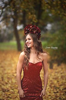 Ozdoby do vlasov - Koruna XXL Jesenná kráľovná - 12676894_
