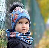 Detské čiapky - Hrejivá čiapka a nákrčník - 12674433_