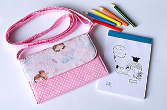 Detské tašky - Detská kabelka - pastelkovníčka Baletka a labuť - 12676066_
