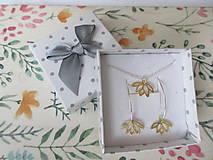 Náhrdelníky - Zlatý lotosový kvet - 12675612_