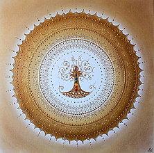 Obrazy - STROM ŽIVOTA (gold) 60 x 60 (70 x 70 cm) - 12676893_