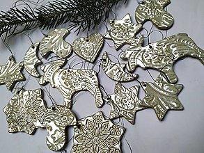 Dekorácie - Keramické vianočné ozdoby - sada 14 ks - 12674533_