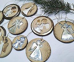Dekorácie - Vianočné ozdoby - anjelikovia - 12674610_