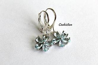 Náušnice - Flower Light Blue - 12675903_