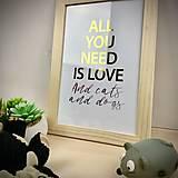 Obrázky - Láska k psíkom a mačičkám - print - 12672383_