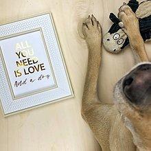Obrázky - Láska k psíkovi - print (A5) - 12672372_