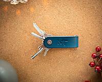 Kožená kľúčenka α & Ω