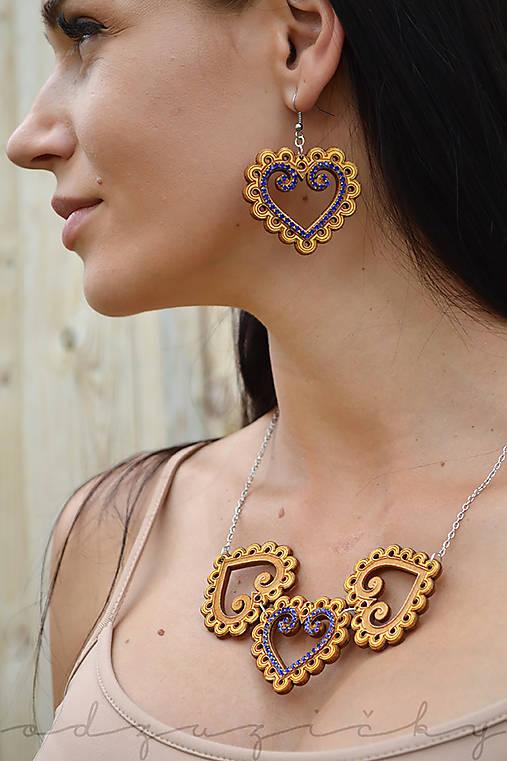 Folk náhrdelník Zuzička (Zlatá)