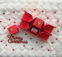 Krabičky - Origami vianočné salonky - 12674492_