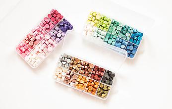 Iný materiál - Veľké balenie, pečatný vosk - 200pcs granulát - 12672589_