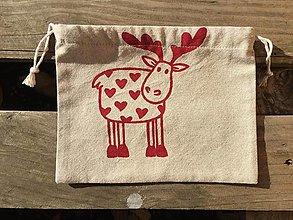 Úžitkový textil - vianočné vrecúško 1 - 12676254_