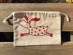 Úžitkový textil - vianočné vrecúško 3,4 - 12676300_
