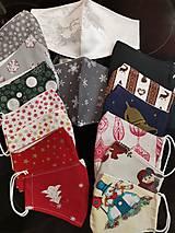 Rúška - Rúška s vianočným motívom - 12676867_
