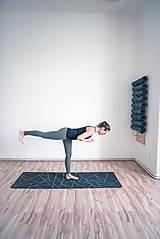 Úžitkový textil - Štýlová joga podložka Spomienky zo 100% prírodného kaučuku - 12673322_