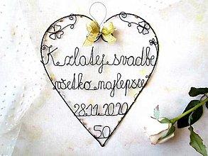 Tabuľky - Zlatá svadba * 24 cm - 12674077_