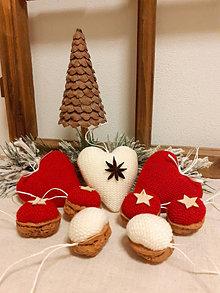 Dekorácie - Vianočné ozdoby červené - 12672404_