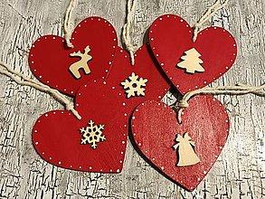 Dekorácie - AKCIA! Sada vianocnych ozdob (srdiecka) - 12675696_