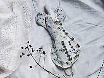 Dekorácie - Keramický anjel perleťový s modrým nádychom - 12679548_