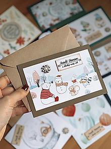 Papiernictvo - Vianočná pohľadnica Vianočná krajinka - 12678383_