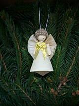 Dekorácie - anjelik kornútik - 12676954_