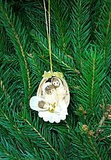 Dekorácie - Svätá rodinka v orechovej škrupinke - 12676961_