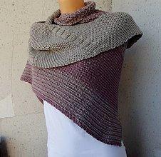 Šatky - pletená šatka SENFONI - 12677301_
