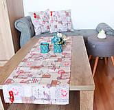 Úžitkový textil - Vianočná sada - stredový obrus + 2 vankúše - 12680666_