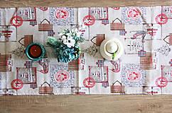 Úžitkový textil - vianočný stredový obrus - behúň - 12680732_