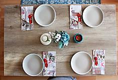 Úžitkový textil - Sada vianočných príborníkov - obal na príbor - 12680768_