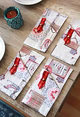 Úžitkový textil - Sada vianočných príborníkov - obal na príbor - 12680769_