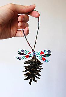 Dekorácie - Vianočná šiška s ľudovou stuhou - 12679994_