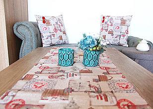 Úžitkový textil - Vianočná sada - stredový obrus + 2 vankúše - 12680658_