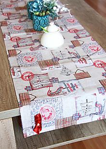 Úžitkový textil - vianočný stredový obrus - behúň - 12680731_