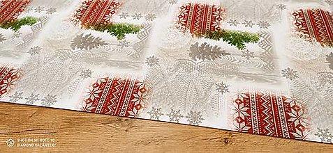 Textil - Bavlnená režná- Lets Snow- cena za 10 cm - 12682175_