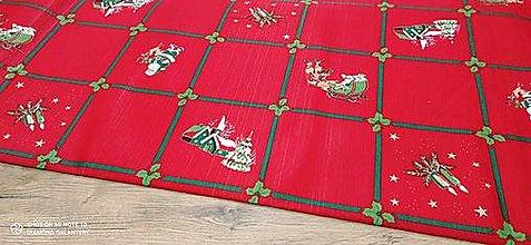 Textil - Bavlnená režná-Vianočný mix v kocke- cena za 10 cm - 12682197_