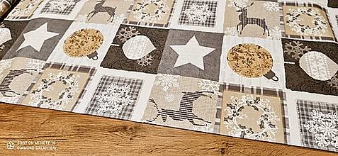 Textil - Bavlnená režná-Weinachten-  cena za 10 cm - 12682284_
