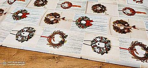 Textil - Bavlnená režná-VIanočné vence- cena za 10 cm - 12682294_