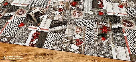 Textil - Bavlnená režná-VIanočný Mix V- cena za 10 cm - 12682333_