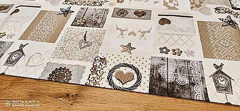 Textil - Bavlnená režná-Retro- cena za 10 cm - 12682403_