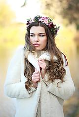 Ozdoby do vlasov - Boho svadobný venček - 12676975_