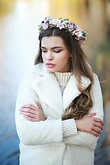 Ozdoby do vlasov - Romantický ružový kvetinový venček - 12677060_