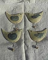 Dekorácie - Modrý vtáčik - 12681547_