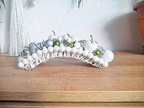 Svietidlá a sviečky - vianočný snežný svietnik - 12678756_
