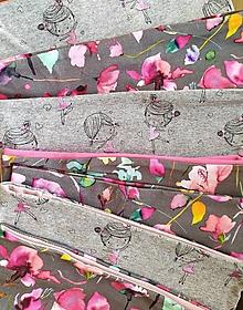Ozdoby do vlasov - Bavlnené, pružné čelenky v ružovom - 12677380_