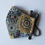 Rúška - Rúško dámske - Mandala svetlo modrá - 12680619_