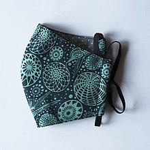 Rúška - Rúško dámske - Tmavomodré s kruhovým vzorom - 12680665_