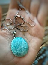 Iné šperky - Prívesok z amazonitu - 12676949_