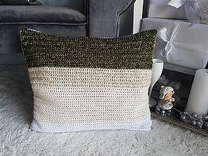 Úžitkový textil - Háčkovaný vankúš - 12678740_