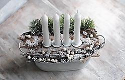 Svietidlá a sviečky -  svietnik ...Natur Advent - 12682488_